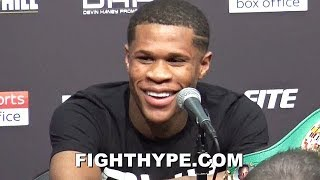 "DEVIN HANEY FULL POST-FIGHT AFTER FIRST TITLE DEFENSE; TALKS PERFORMANCE, ""BIG FIGHTS"", & MOVING UP"