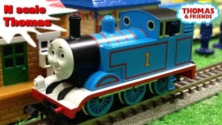 "Thomas and friends ""Review of N scale Thomas set by Tomix"" Nゲージ トーマス レビュー"