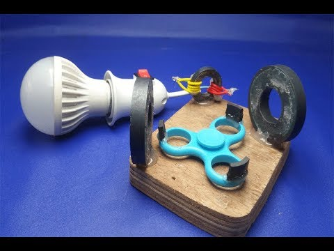 free energy light bulb using spinner thumbnail