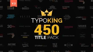 TypoKing | Title Animation | Kinetic Typography Text | After Effects Template - Videohive