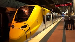 Sweden, ride with Arlanda Express Train from Stockholm Central to Airport Terminal 5