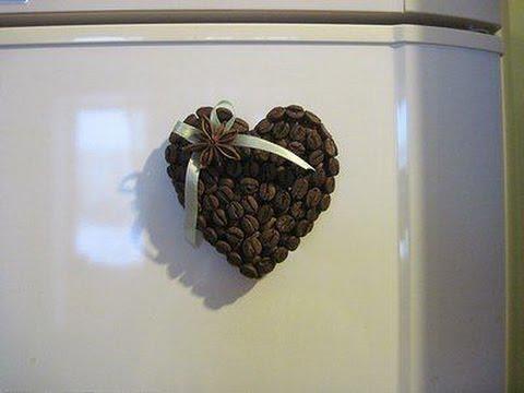 Магнит из кофе своими руками