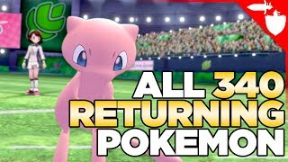 I Figured Out ALL 340 Returning Gen1-7 Pokemon in Pokemon Sword and Shield