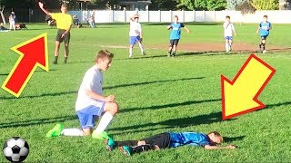 ⚽️Soccer Foul Elbow to the FACE! Yellow Card, Red Card, or None?