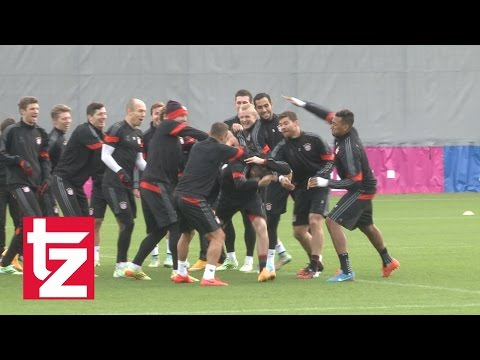 Lustiges Video: Hier wird Franck Ribéry im Training vermöbelt