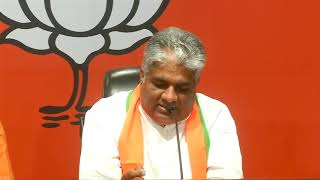 Joint press conference by Shri Bhupender Yadav and Shri Arun Singh at BJP HQ.