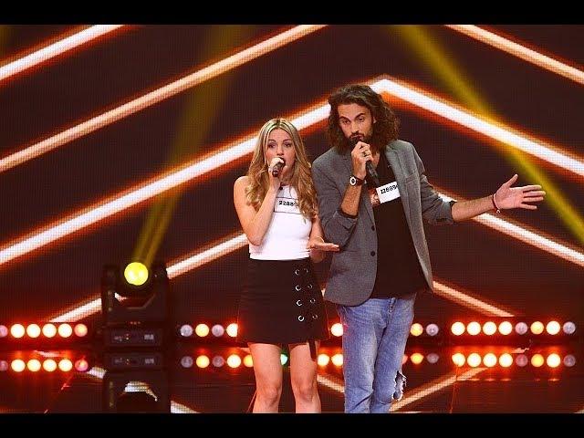 Davide şi Claudia au venit tocmai din Italia pentru a cânta pe scena X Factor România