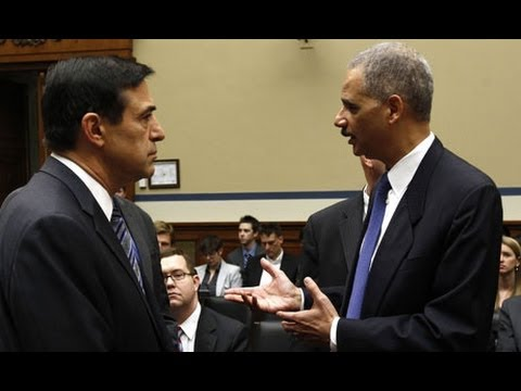Attorney General Eric Holder and Rep. Darrell Issa Spar at Judiciary Hearing