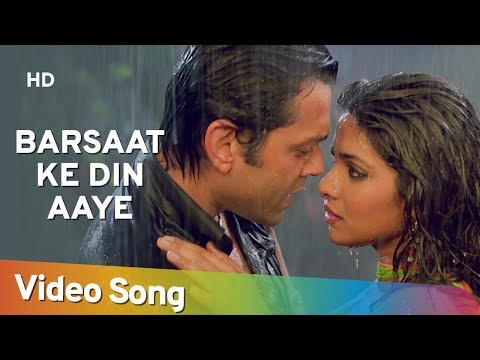 Barsaat Ke Din Aaye | Barsaat (2005) | Bobby Deol | Priyanka Chopra | Rain Song | Filmigaane