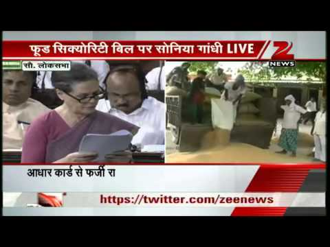 Zee News: Food Security Bill: India can feed its people, says Sonia Gandhi