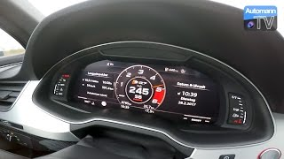 2017 Audi SQ7 (435hp) - 0-251 km/h acceleration (60FPS)