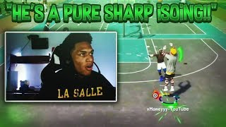 so i decided to stream snipe with my iso god pure sharp... nba 2k19