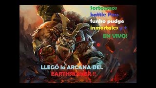 LLEGÓ LA ARCANA DEL SHAKER!! Sorteamos BATTLE PASS 2019 + inmortales! // Dota 2 / (Esp/ vivo)