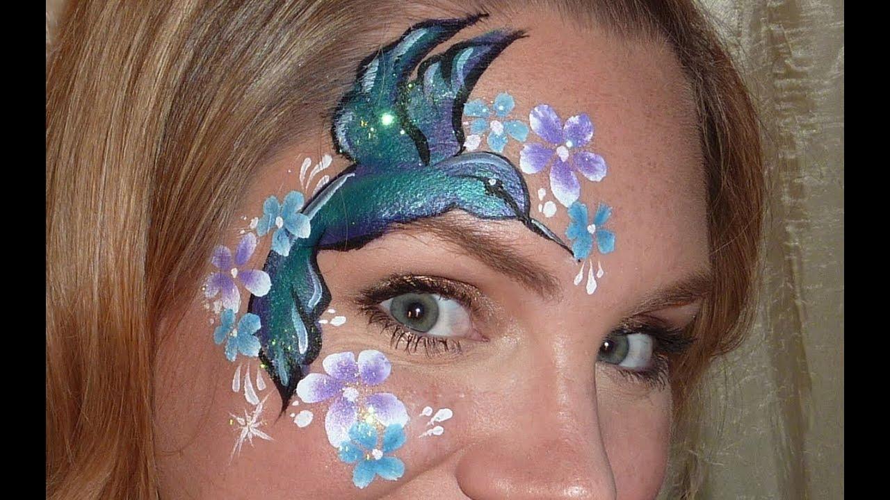 Hummingbird Face Painting Tutorial Youtube