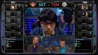 SKT vs TSM | SK Telecom T1 vs TSM | Season 3 Worlds 2013 Day 3 Group A | Full game HD | S3 D3G5