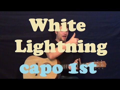 White Lightning (George Jones/1959) Easy Guitar Lesson How To Play Tutorial