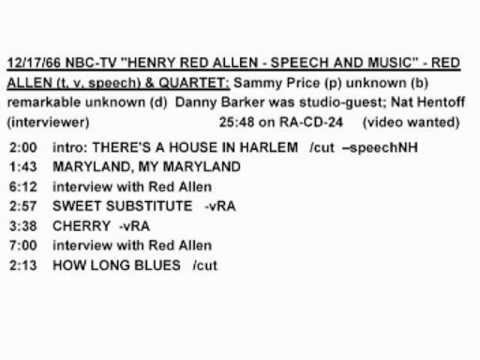 Henry Red Allen 1966-12 NBC + Sammy Price - Sweet Substitute (audio)