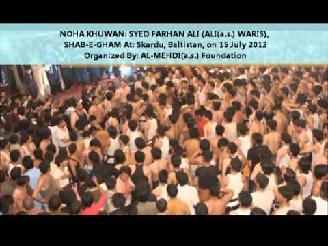 Farhan Ali Waris , Skardu , Baltistan ( Sari Duniya Hussain(a.s.) Hussain(a.s.) Kare ) video