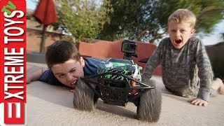 Extreme Toys TV Short: First Behind the Scenes Vlog with Ethan and Cole! RC Car with a GoPro!