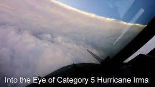 Flying into the eye of Hurricane Irma
