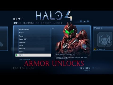 ★ Halo 4 -- All Armor Unlocks, ft. Gears! -- WAY➚