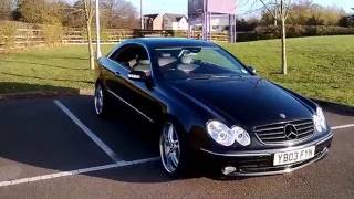 black mercedes clk w209 tuning