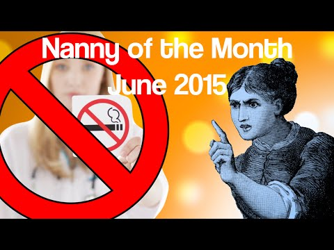 Indoor Smoking Ban Halts Scientific Research on Smoking (Nanny of the Month, June 2015)