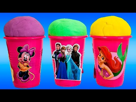 Play Doh Surprise Ice Creams w/ Awesome Surprise Toys Inside