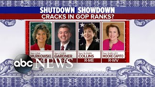 Signs GOP support is cracking amid government shutdown