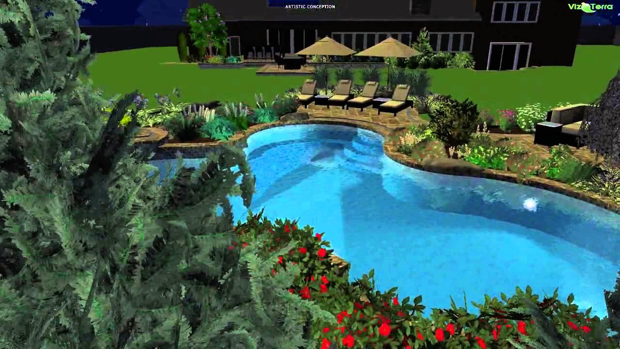 Vizterra 3d landscape design youtube for 3d landscape design