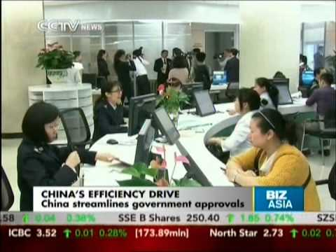 China streamlines government approvals