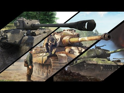Какой танк сильнее? - М26 Першинг vs ИС-2 vs Tiger 2 H - War Thunder