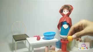 Dạy bé làm đồ chơi từ đất sét | Làm váy cô bé quàng khăn đỏ | Embe tv