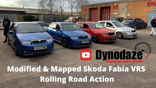 Mapped Skoda Fabia VRS Ripping Up the Rollers at Dynodaze