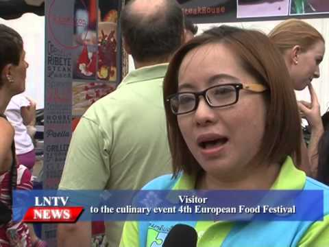 Lao NEWS on LNTV: 4th European Food festival celebrates EU Day. 11/5/2015