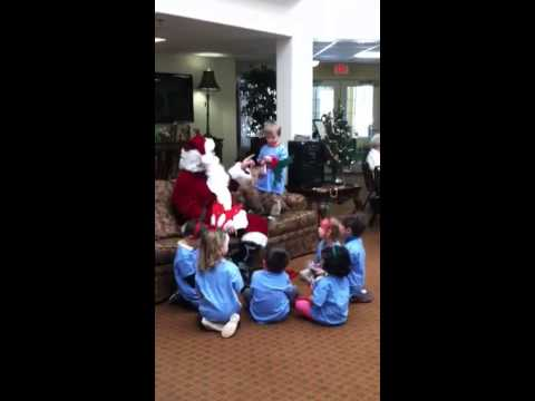 Santa and the elves from Elmwood Franklin school - 12/19/2013