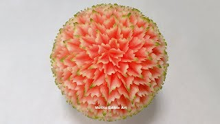 Bonbons Watermelon Fruit Carving Artist - By Mutita Art Of Fruit and Vegetable Carving