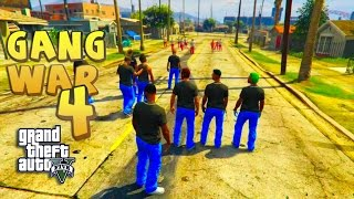 Gta 5 roleplay - gang war part 4  bloods vs crips straight outta compton thug life funny gameplay