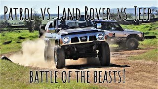 4X4 DRAG RACING! LANDY vs PATROL vs JEEP?
