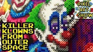 Perler Bead Killer Klowns from Outer Space - Pixel Art Show