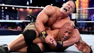(مباراة اسطوريه) جون سينا ضد ذا روك راسلمينيا 29 علي لقب wwe