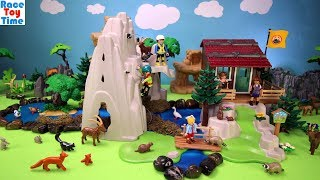 Playmobil Mountain Climbers Cabin Playset Build and Play with Fun Toys Animals For Kids