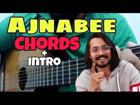 Download  Ajnabee Bhuvan Bam Guitar Chords + Intro Lesson | BB ki Vines | Bhuvan Bam Ajnabee | Filhall Chord Gratis, download lagu terbaru