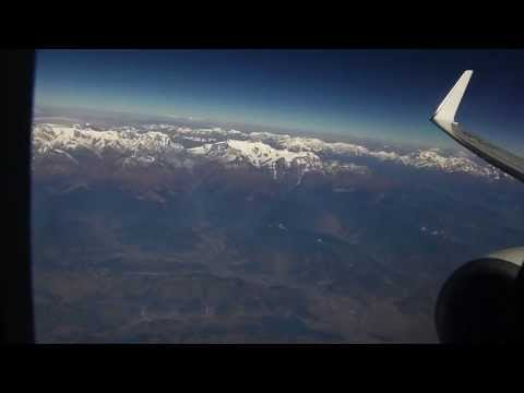 9W263 KTM-DEL Jet Airways Kathmandu to Delhi Business Class Boeing 737 views of Anapurna Himalayas