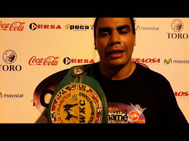 Rubén Barboza campeon mundial de Full Contact en Chamame.tv