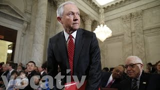Protesters Disrupt Jeff Sessions Hearing
