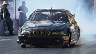 QUEEN ST GROUP 20B BMW TESTING AT SYDNEY DRAGWAY 18.2.2015