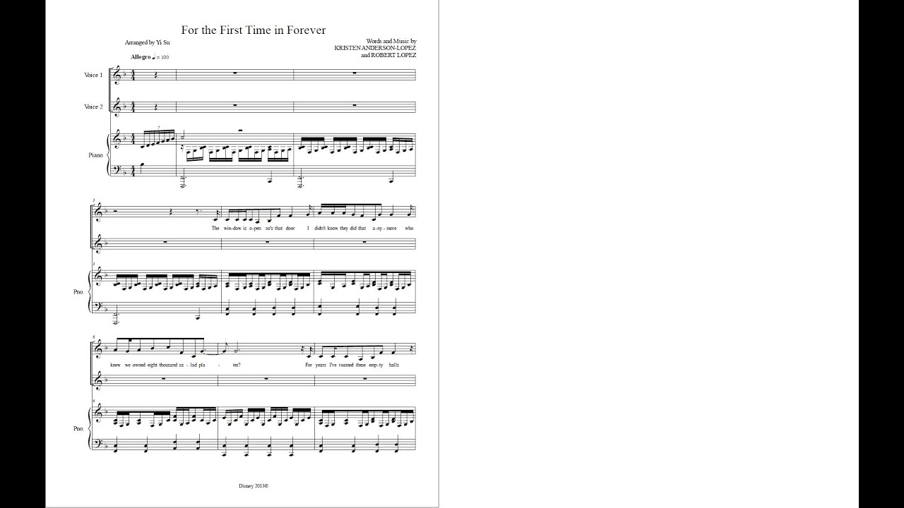Viewing Gallery For For The First Time In Forever Flute Sheet MusicFor The First Time In Forever Flute Sheet Music
