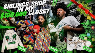 I LET MY SIBLINGS HAVE WHATEVER THEY WANT IN MY 100K CLOSET COLLECTION! *They Took Everything!*