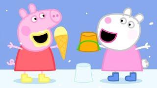 Peppa Wutz  💚 Sonne, Strand und Schnee 💚 Cartoons für Kinder